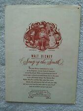 "New ListingVintage Sheet Music Walt Disney ""Song Of The South"" ""Zip-A-Dee-Doo-Dah"" 1946"