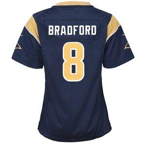 Sam Bradford St. Louis Rams Nike Home Navy Blue Jersey Girls Youth (S-XL)