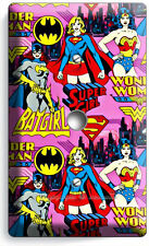 SUPERGIRL BATGIRL WONDER WOMAN COMICS LIGHT DIMMER VIDEO CABLE WALL PLATE COVER