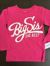 Girls 6 The Best Big Sis Pink Shirt NEW NWT $18 Sister Carter's