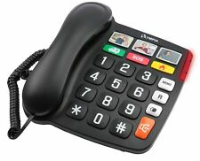 Olympia Großtastentelefon Senioren Extragroße Wahltasten  Hörgeräte kompatibel