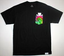 Diamond Supply Co. Grizzly Griptape Men's XL Black T-Shirt Tie Dye Pocket New