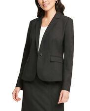 Ann Taylor Women's Classic One Button Blazer Jacket, Raven Black, Sz(6), 1396-3