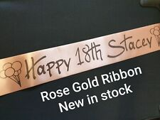 STILL POSTING! ROSE GOLD Sash  Baby Shower - Personalised Sash - 18th 21st 30th