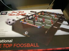 NIFTY TABLE TOP FOOSBALL GLOW IN THE DARK 4 PLAYER INTERNATIONAL