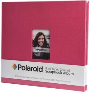 Polaroid PL2X3SBR Pink Textile Photo Album and Sheet Protector