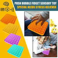 Push Bubble Fidget Sensory Toy Special Needs Stress Reliever Toy-AU