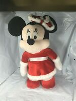 "Rare Standing Christmas 12"" Minnie Mouse Disney Parks Doll Mrs. Clause FS EUC"