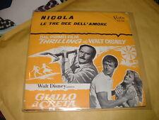 """RON GRAINER""""LE TRE DEE DELL'AMORE-NICOLA""""O.S.T. GIALLO A CRETA(Disney)  ITALY'64"""
