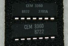 2 x IC CEM 3360 Curtis Chip Dual VCA for various vintage synthesizers Neu NOS