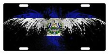 EL SALVADOR Flag Custom License Plate Salvadoran Emblem  Eagle Version # 5