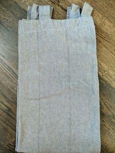 Ikea Lenda Gray Unlined Curtain Panel 55x118 Linen Look Cotton Tab Top