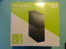 NEW Western Digital My Book 6TB USB 3.0 Portable External Hard Drive Black NIB