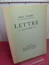 LETTRE A MADAME C...Paul Valéry  exemplaire sur alpha