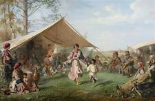 Dance in the Gypsy Camp 1872 Russia Romany Travellers 7x5 Print
