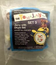 MCDONALDS THE TOM & JERRY BAND JERRY WITH DRUM SET (Set 3) HAPPY MEAL TOY