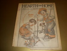 Vintage HEARTH AND HOME Magazine, GARDENING Cover, May, 1927, Augusta, Maine!