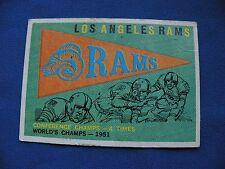 1959 Topps Los Angeles Rams logo card #126 $1 S&H NFL football