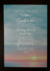 SYMPATHY CARD - Hallmark Greeting Card - Praying for You - God is the Strength