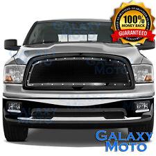 09-12 Dodge RAM Truck 1500 Front Hood Black Mesh Grille+Rivet+Replacement Shell