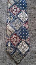 Guy Laroche Diffusion Blue Red Beige Gold All Silk Tie
