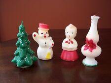 Vintage 1950's Gurley Candles Lantern, Christmas Tree, Snowman, & Choir Child