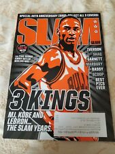 Slam Magazine Michael Jordan 3 Kings Cover 20th Anniversary issue Kobe Iverson