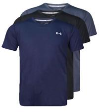 Under Armour UA Men Heatgear Tech Short Sleeve Tee T-shirt Plain Black Navy Grey