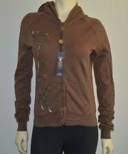Ed Hardy Surf Christian Audigier Women's Hoody Bamboo in Brown L/S Small NWT
