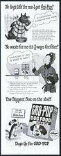 1948 Scottie dog Scottish Terrier cartoon Gro Pup dog food vintage print ad