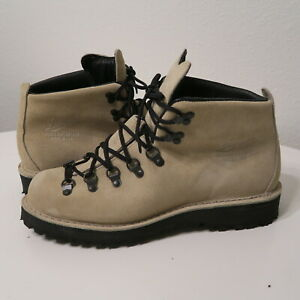 Danner Mountain Light Ivory Suede 31532 Limited Edition Boots Men's Bone 10 EE