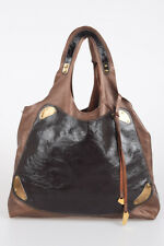TIZIANA FAUSTI New Woman Brown Soft Leather Handmade in Italy Shopper Tote Bag