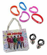 ONE DIRECTION 8-PC SET: 1 TOTE BAG, 2 NECKLACES & 5 WRISTBANDS SET - NEW