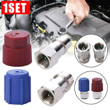 A/C R-12 to R-134a Retrofit Conversion Adapter Fitting 1/4 SAE Valves Tool Set