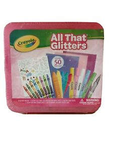 Crayola All That Glitters, Art Set, Over 50 Pieces, Gift for Kids, Age 5, 6, 7,8