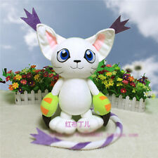 Digimon Tamarz Tailmon Beast Childhood Cosplay Doll White Cute Toy Plush 45cm
