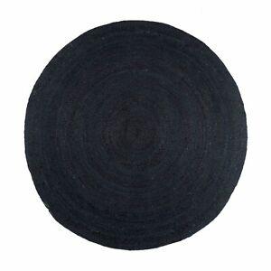 100% Natural Jute Braided Round Rug Kitchen Carpet Flooring Rug Reversible Mat