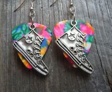 Converse Sneaker Charms Guitar Pick Earrings - Pick Your Color