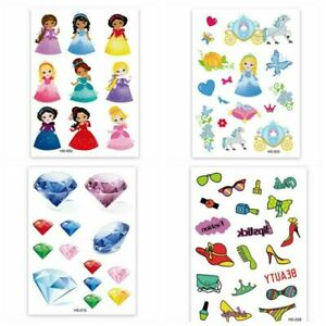 129 sheets 2000  tattos.Children's Girls Temporary Tattoos Kids BirthdayParty.