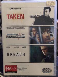 Taken - Phonebooth - Breach - Triple Feature 3 DVD Region 4