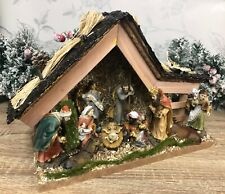 10 Piece Complete Christmas Nativity Stable and Manger Scene & Figures 89893