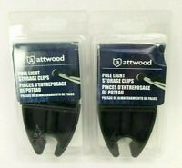 "2 Pair Attwood Pole Light Storage Clip 7571L7 Holds 3/4"" Inch-Diam Poles 2"""