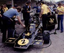 Jacky Ickx JPS Lotus 72E British Grand Prix 1974 Signed Photograph 1