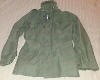 Vintage Army Military M-65 M65 Cold Weather Field Jacket Coat Green X-Small