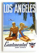 Los Angeles Travel FRIDGE MAGNET (2.5 x 3.5 inches) poster california