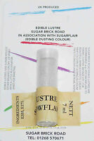 Sugarflair Snowflake Lustre Dust Powder 7ml Edible Sparkly Colour Tint