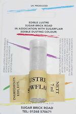 SugarFlair Fiocco di neve Lustre Dust 7 ML Polvere Commestibile Luccicante tinta a colori, Natale