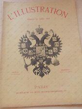 1901 L'ILLUSTRATION Le tsar Nicolas II à Compiègne *Revue année 59 n° 3053