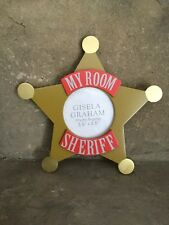 SALE Gisela Graham Cowboys wooden sheriff badge star My Room photo frame