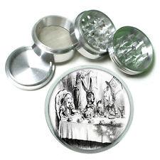 Classic Alice Design B&W Mad Tea Metal Silver Aluminum Grinder D32 63mm Herb Spi